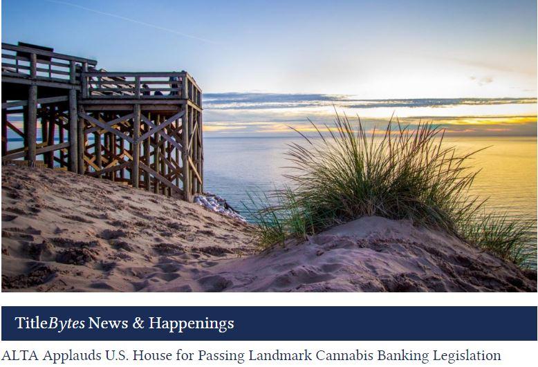 ALTA Applauds U.S. House for Passing Landmark Cannabis Banking Legislation